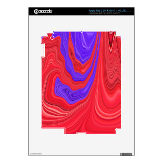 Red and Purple Flowing Bold Color Abstract Art iPad 3 Decals