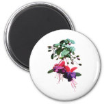 Red and Purple Fuschia Fridge Magnets