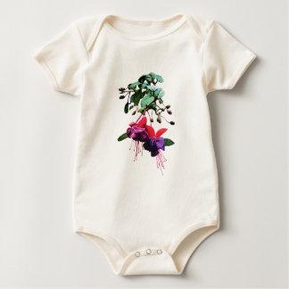 Red and Purple Fuschia Kids Baby Bodysuit