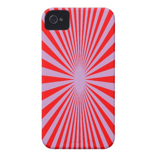 Red and Purple hypnotize phone cover iPhone 4 Case-Mate Cases