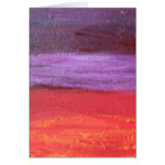 red and purple impression card