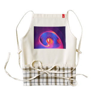 Red and purple lights zazzle HEART apron