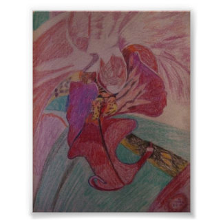Red and Purple Orchid Poster