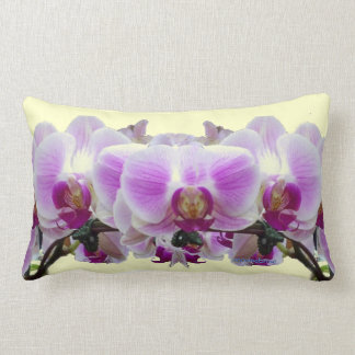 Red and Purple Orchids Lumbar Pillow