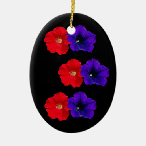 Red and Purple Petunias ornament