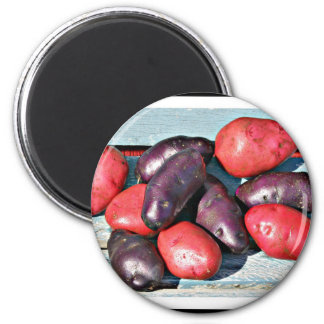 red and purple Potatoes Magnet