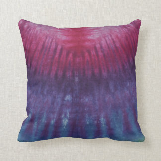 Red and Purple Tie Dye American MoJo Pillow