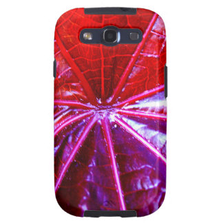 Red and Purple Tropical Castor Leaf Samsung Galaxy SIII Cases