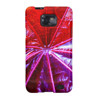 Red and Purple Tropical Castor Leaf Galaxy SII Case