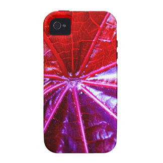 Red and Purple Tropical Castor Leaf Case-Mate iPhone 4 Cover