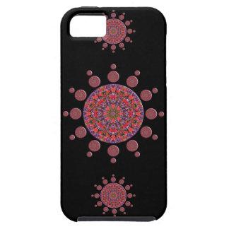 Red and Purple Tulip Mandala Fractal iPhone 5 Case
