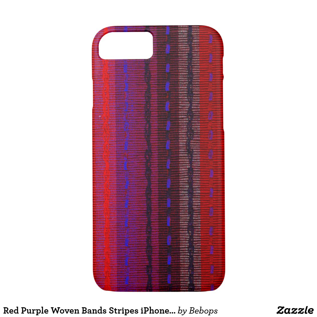 Red and Purple Woven Bands iPhone 7 Case