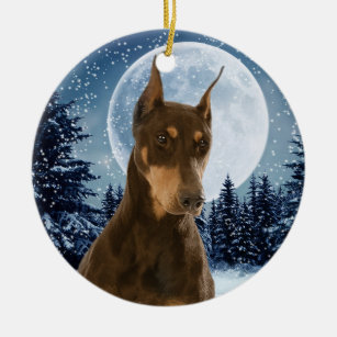Red Doberman Ornaments & Keepsake Ornaments | Zazzle