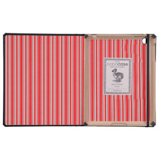 Red and Silver Christmas Stripes iPad Cases