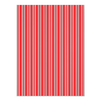 Red and Silver Christmas Stripes Announcements