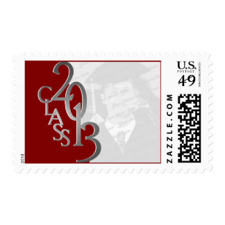 Red and Silver Class of 2013 Graduation Photo Postage Stamp