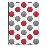 Red and Silver / Gray Basketball Pattern Kindle Cover