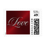 Red and Silver Love Stamp