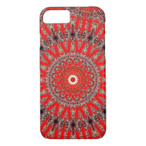 Red and Silver Mandala Pattern iPhone 8/7 Case
