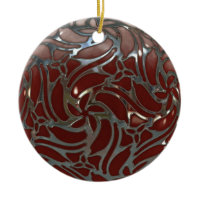 red and Silver ornament