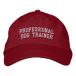 Red and Silver Professional Dog Trainer Embroidered Baseball Cap