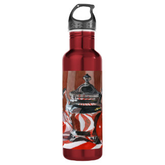 Red and Silver reflections 24oz Water Bottle