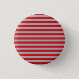 Red and Silver Stripes Button