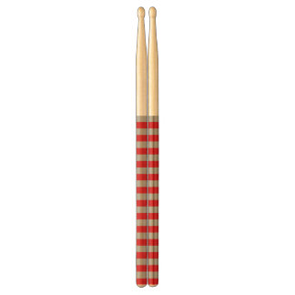Red and Silver Stripes Drum Sticks