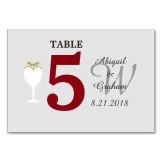 Red and Silver Table Card