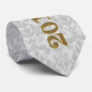 Red and Silver with Damask Class of 2017 Neck Tie