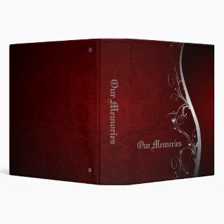 Red and Sliver Elegant Memories Vinyl Binders