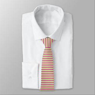 Red and Subtle Green Striped Tie