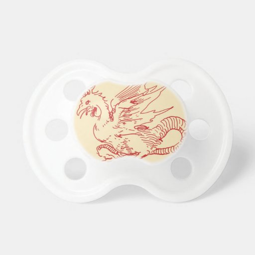 Red and Tan Dragon BooginHead Pacifier