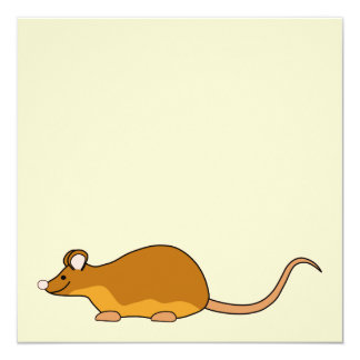 Red and Tan Pet Mouse. Card