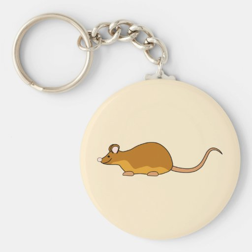 Red and Tan Pet Mouse. Key Chain