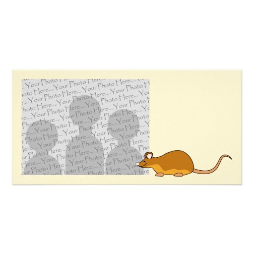 Red and Tan Pet Mouse. Photo Card Template