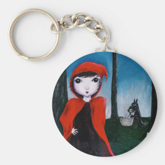 Red and the muffin thief 1 keychain