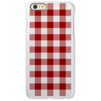Red and Transparent Gingham Incipio Feather® Shine iPhone 6 Plus Case