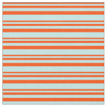 [ Thumbnail: Red and Turquoise Colored Stripes Fabric ]