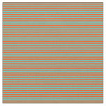 [ Thumbnail: Red and Turquoise Lines Pattern Fabric ]