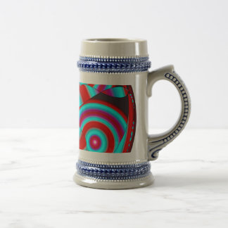 Red and Turquoise Stein