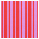[ Thumbnail: Red and Violet Colored Lines Pattern Fabric ]