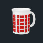 """Red and White Abstract Design on Pitcher<br><div class=""""desc"""">Pitcher with Red and White Abstract Design!</div>"""
