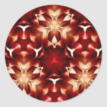 Red And White Abstract Design Stickers