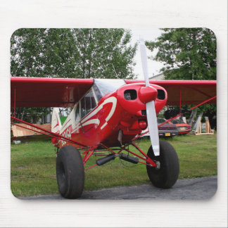 Red and white aircraft, Alaska Mouse Pad