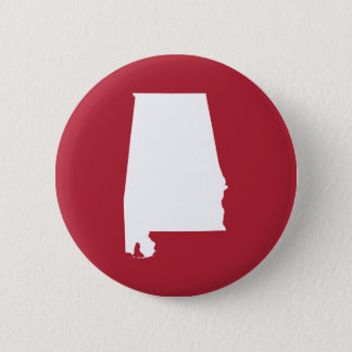 Red and White Alabama Button