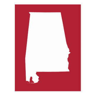 Red and White Alabama Postcard