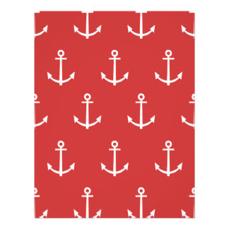 Red and White Anchors Pattern 1 Custom Flyer