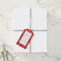 Red and White Anchors Pattern 1 Gift Tags