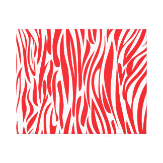 Red and white Animal print. Canvas Print